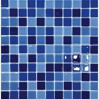 МОЗАИКА Global Bridge  30x30 M4CB3405 микс тёмно- голубой