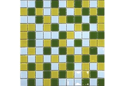 МОЗАИКА Global Bridge  30x30 M4CB4307 микс зелено-желтый