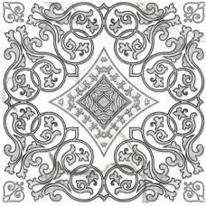 ДЕКОР ЦЕНТРАЛЬНЫЙ GRASARO Classic Marble 40x40 G-270/g/do4 Белый
