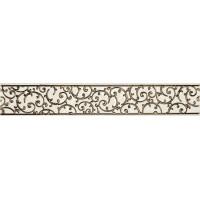 LASSELSBERGER Бордюр настенный Анастасия 1504-0132 7,5x45 Кремовый