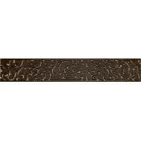 LASSELSBERGER Бордюр настенный Анастасия 1504-0133 7,5x45 Шоколад