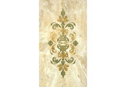 LASSELSBERGER Настенная плитка декор орнамент Кендо 1645-0079 25х45 бежевый