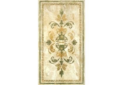 LASSELSBERGER Настенная плитка декор орнамент 2  Кендо 1645-0084 25х45 бежевый
