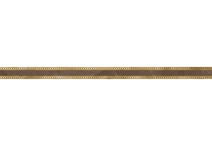 LASSELSBERGER Бордюр настенный Миланезе Дизайн 1506-0419 3,6х60 римский марроне