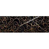 LASSELSBERGER Настенная плитка декор Миланезе Дизайн 1664-0148 20х60 флорал неро