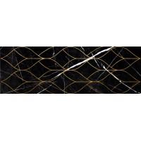 LASSELSBERGER Настенная плитка декор Миланезе Дизайн 1664-0159 20х60 тресс неро