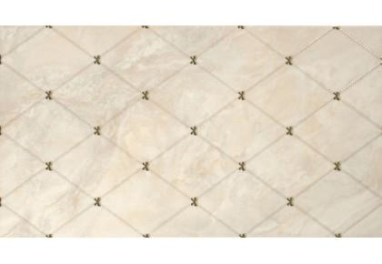 LASSELSBERGER Настенная плитка Оникс декор 1645-0036 25x45 бежевая