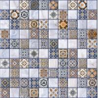 LASSELSBERGER Керамогранит арт-мозаика Орнелла 5032-0200 30х30 универсальная синяя