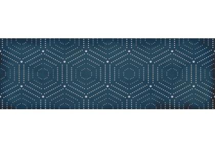LASSELSBERGER Настенная плитка декор Парижанка 1664-0180 20x60 геометрия синяя