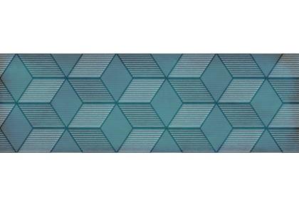 LASSELSBERGER Настенная плитка декор Парижанка 1664-0185 20x60  гексагон бирюзовая