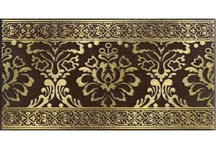 LASSELSBERGER Бордюр настенный Катар 1502-0574 13x25 коричневый
