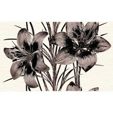 НЕФРИТ-КЕРАМИКА вставка декоративная PIANO 400х250х8мм коричневый 04-01-1-09-03-15-081-2