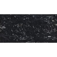TileKraft керамогранит Floor Tiles-PGVT - Royal Black Portoro High Glossy 60x120 полированная