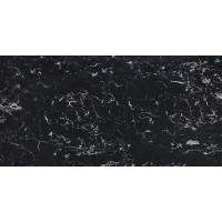 TileKraft керамогранит Floor Tiles-PGVT - Royal Black Portoro High Glossy 60x120 полированная